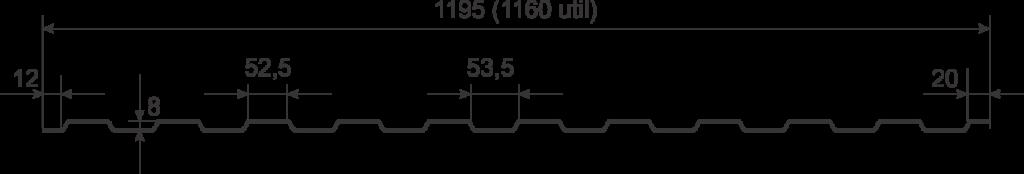 Tabla cutata Wetterbest W8